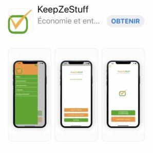 KeepZeStuff application