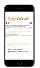Formulaire de scan QR code KeepZeStuff